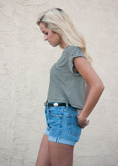 Striped Boxy T Shirt 3