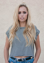 Striped Boxy T Shirt 2