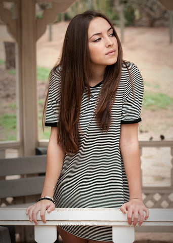 Rachel Bentley Striped Ringer Tshirt Dress