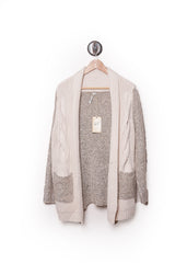Two Toned Cream Sweater Cardigan 3