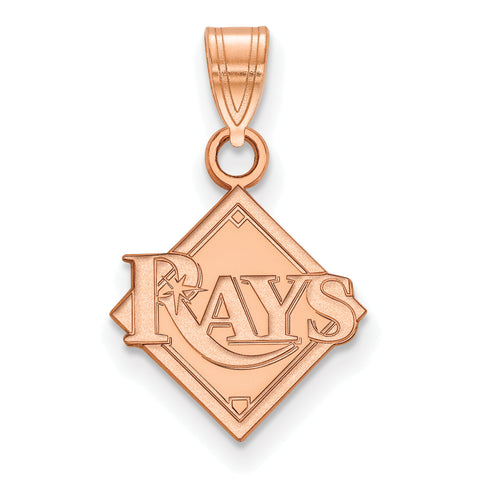 Tampa Bay Rays Baseball Diamond Small Pendant Rose Gold