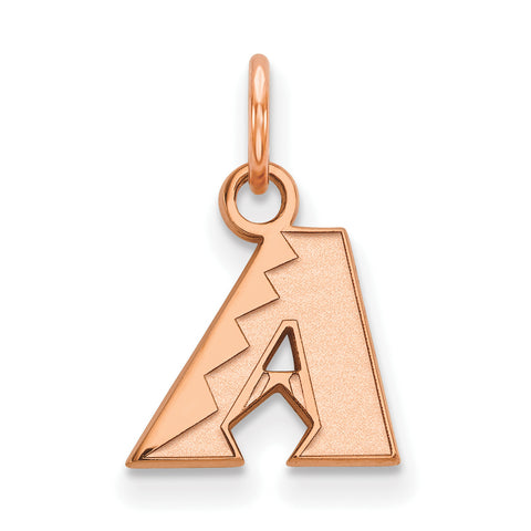 Arizona Diamondbacks Letter A XS Pendant Rose Gold