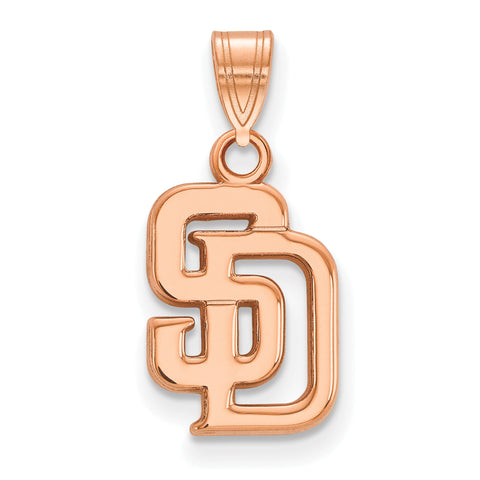 San Diego Padres Interlocking S & D Small Pendant Rose Gold