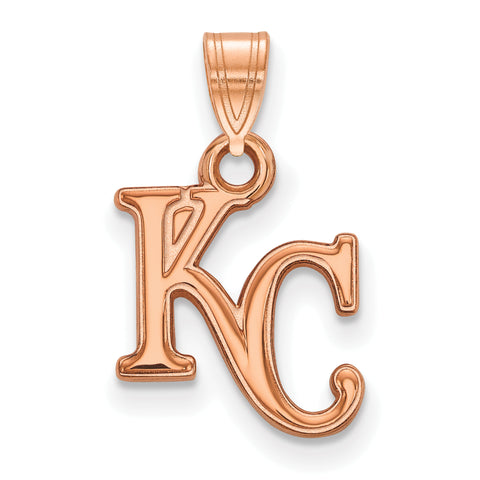 Kansas City Royals K and C Small Pendant Rose Gold