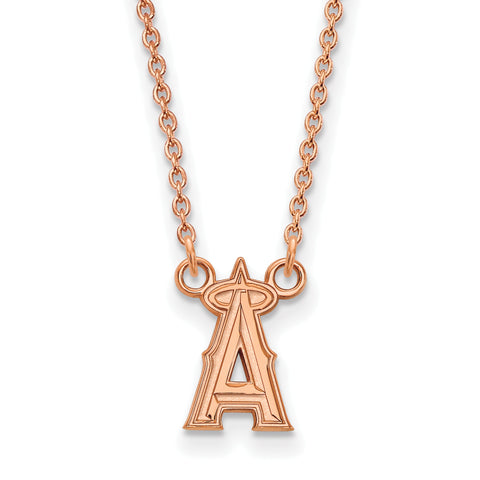 Los Angeles Angels Necklace Rose Gold Plated