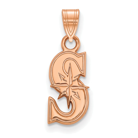 Seattle Mariners Letter S Small Pendant Rose Gold