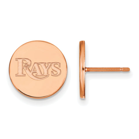 Tampa Bay Rays Earrings Rose Gold Plated