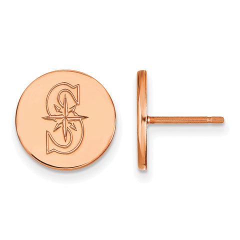 Seattle Mariners Earrings Rose Gold Plated