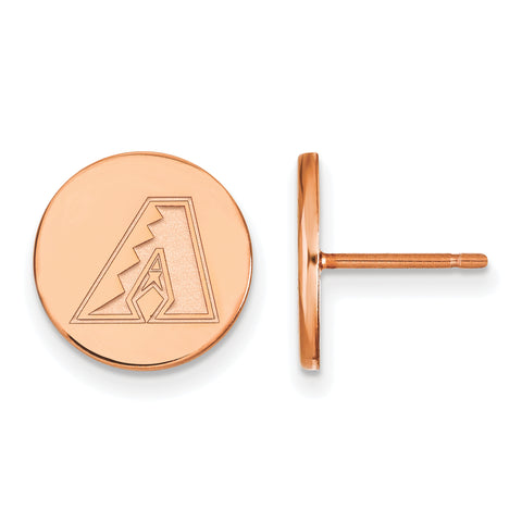 Arizona Diamondbacks Earrings Rose Gold Plated