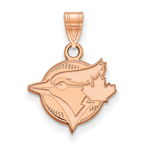 Toronto Blue Jays Blue Jay & Maple Leaf Small Pendant Rose Gold