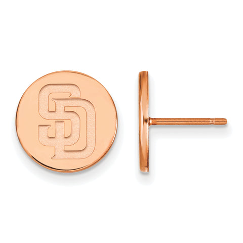 San Diego Padres Earrings Rose Gold Plated
