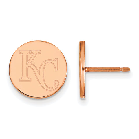 Kansas City Royals Earrings Rose Gold Plated