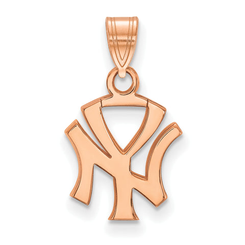 New York Yankees Interlocking N & Y Small Pendant Rose Gold
