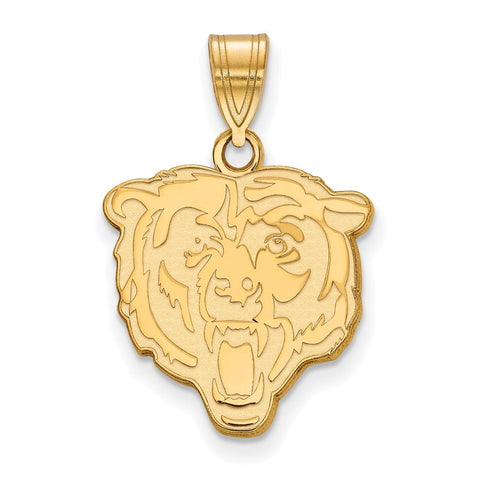 Chicago Bears Medium Pendant in 10k Yellow Gold
