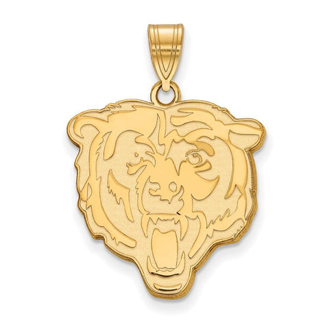 Chicago Bears Large Pendant in 10k Yellow Gold