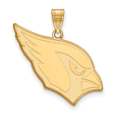 Arizona Cardinals Large Pendant in 14k Yellow Gold