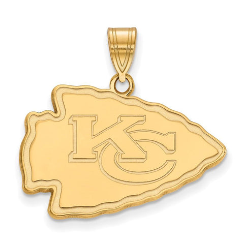 Kansas City Chiefs Large Pendant in 10k Yellow Gold