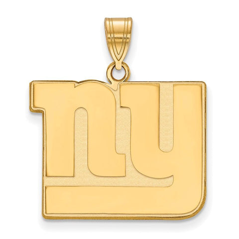 New York Giants Large Pendant in 14k Yellow Gold