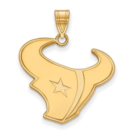 Houston Texans Large Pendant in 14k Yellow Gold