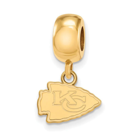 Kansas City Chiefs Bead Charm XS Dangle in Gold Plate