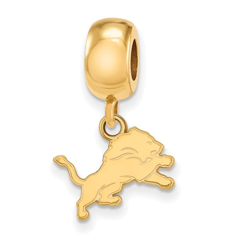 Detroit Lions Bead Charm XS Dangle in Gold Plate