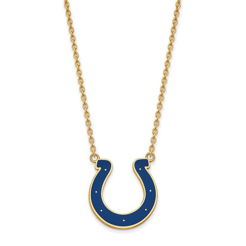 Indianapolis Colts Large Pendant Necklace in Gold Plate