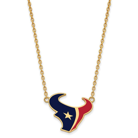 Houston Texans Large Pendant Necklace in Gold Plate