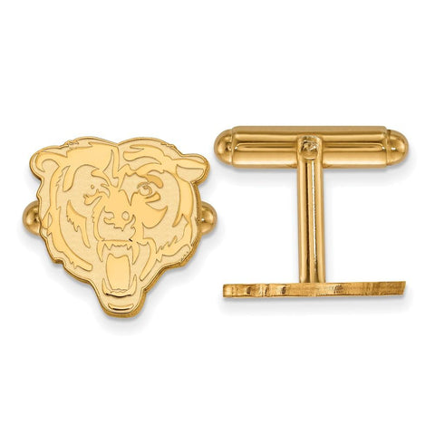 Chicago Bears Cufflinks in Gold Plate