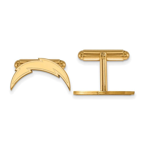 Los Angeles Chargers Cufflinks in Gold Plate