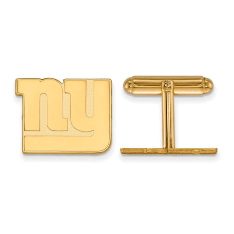 New York Giants Cufflinks in 14k Yellow Gold