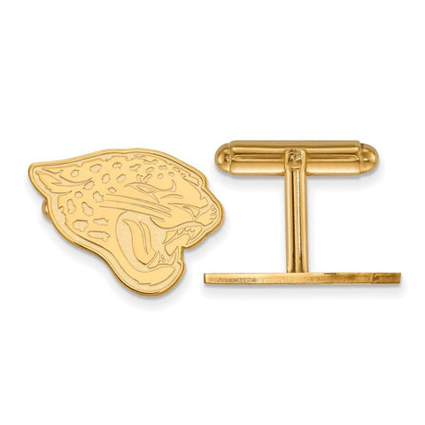 Jacksonville Jaguars Cufflinks in 14k Yellow Gold