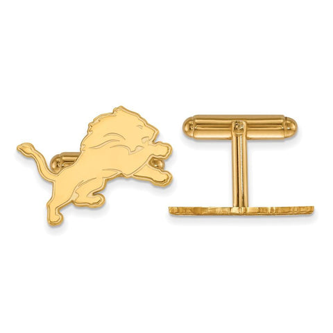 Detroit Lions Cufflinks in Gold Plate