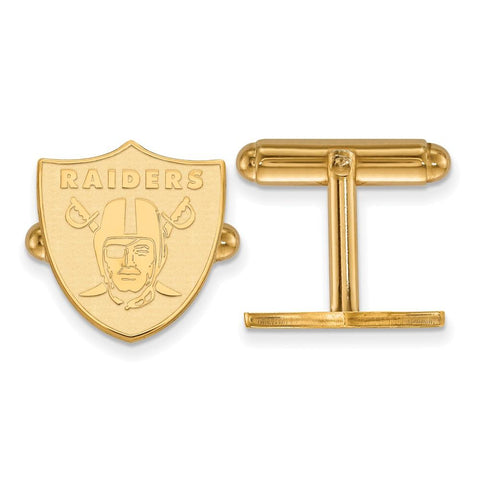 Oakland Raiders Cufflinks in 14k Yellow Gold