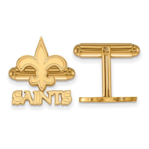 New Orleans Saints Cufflinks in Gold Plate