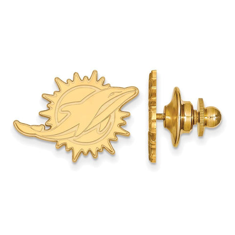 Miami Dolphins Lapel Pin in 14k Yellow Gold