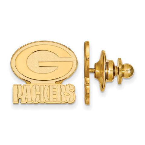 Green Bay Packers Lapel Pin in 14k Yellow Gold