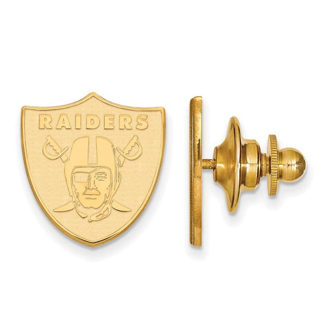 Oakland Raiders Lapel Pin in Gold Plate