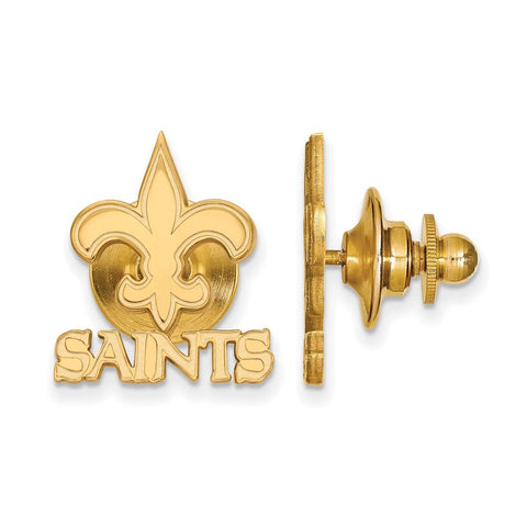 New Orleans Saints Lapel Pin in 14k Yellow Gold