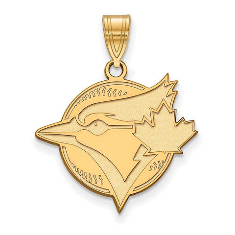 Toronto Blue Jays Large Pendant 14k Yellow Gold