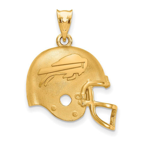 Buffalo Bills Football Helmet Pendant in Gold Plate