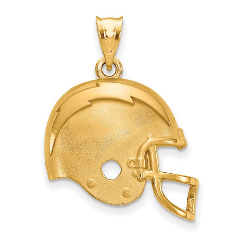 Los Angeles Chargers Helmet Pendant in Gold Plate