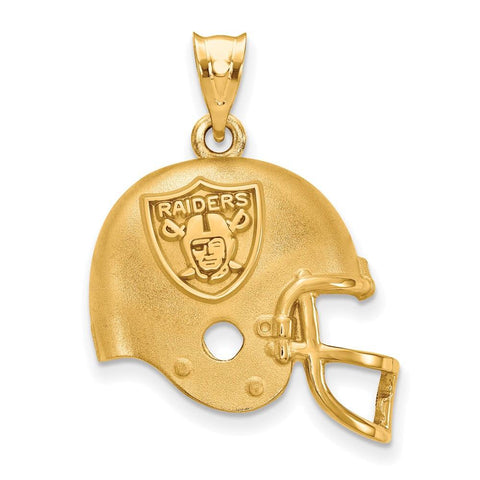 Oakland Raiders Helmet Pendant in Gold Plate