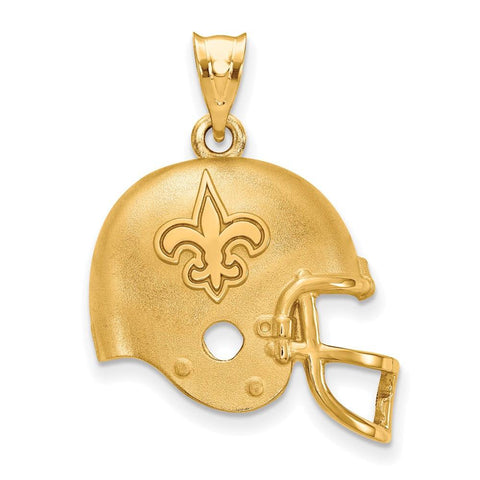 New Orleans Saints Helmet Pendant in Gold Plate