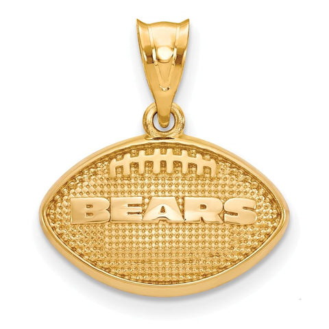 Chicago Bears Football Pendant in Gold Plate