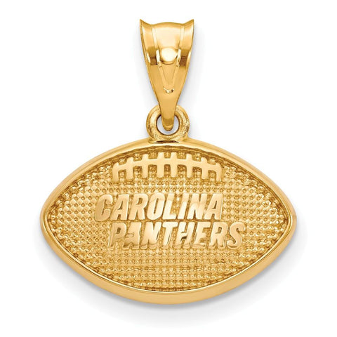 Carolina Panthers Football Pendant in Gold Plate