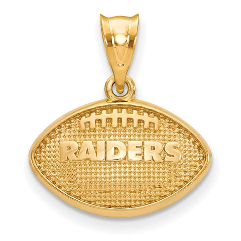 Oakland Raiders Football Pendant in Gold Plate