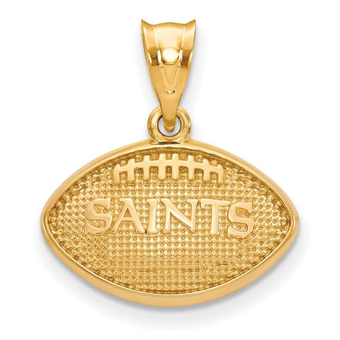 New Orleans Saints Football Pendant in Gold Plate