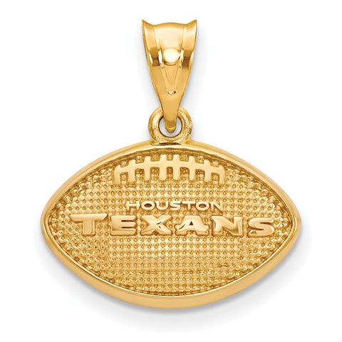 Houston Texans Football Pendant in Gold Plate