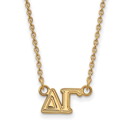 Delta Gamma Medium Pendant with 18 Inch Chain