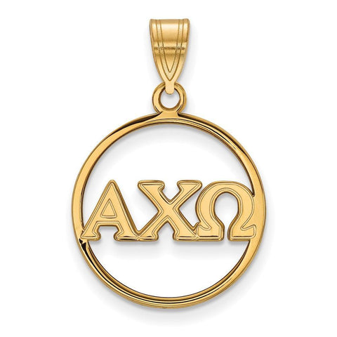 Alpha Chi Omega Small Circle Pendant
